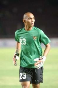 Markus Horison Kiper Timnas Sepakbola Indonesia